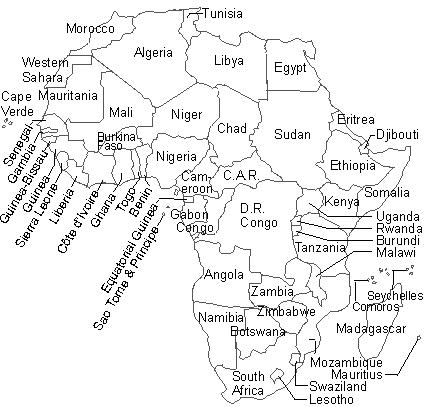 無料 アフリカ 白地図 無料 : ... アフリカ 白地図集 - NAVER